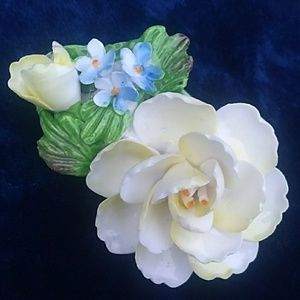 VTG Denton China Made in England Porcelain Brooch